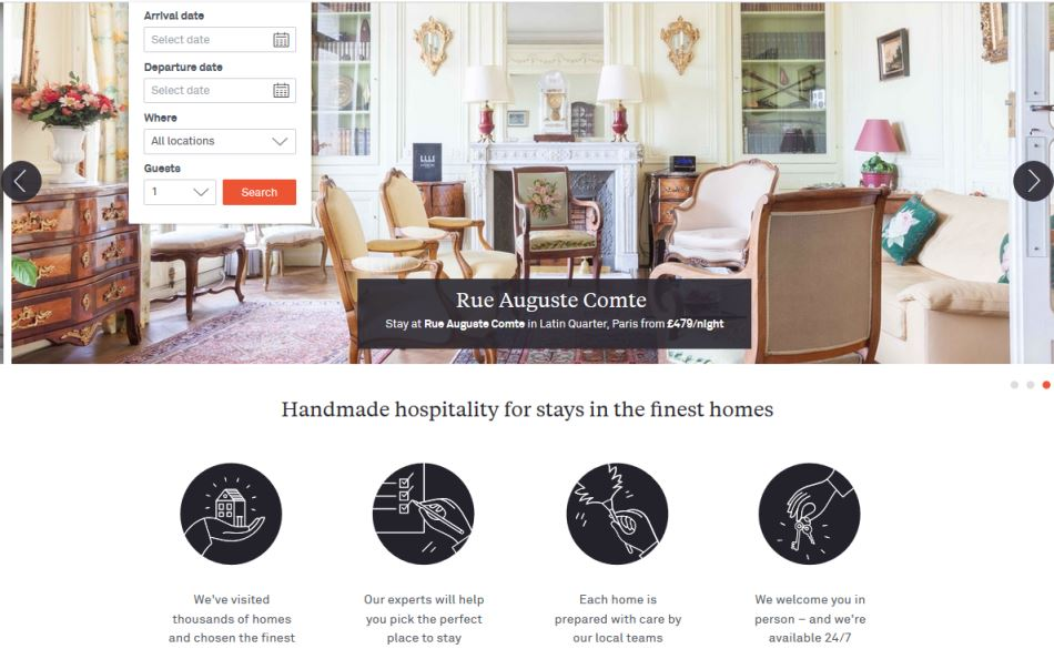 homepage onefinestay