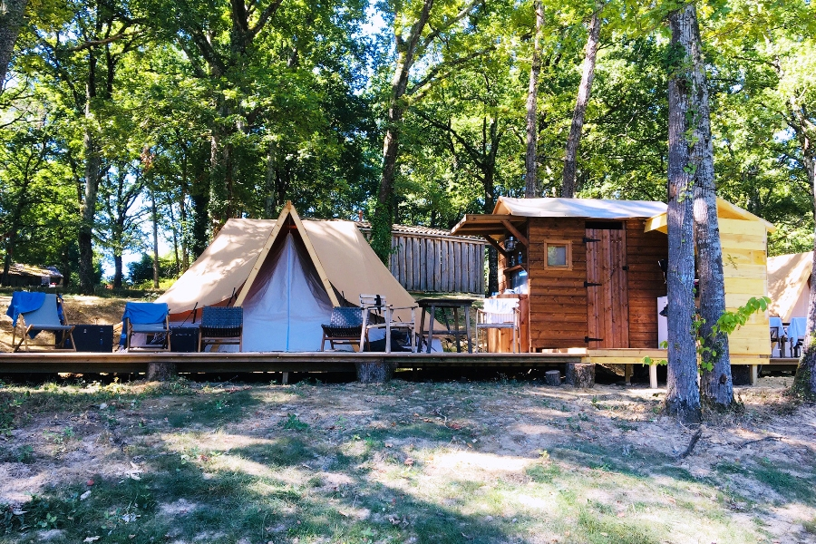Tente glamping, ambiance « out of Africa »